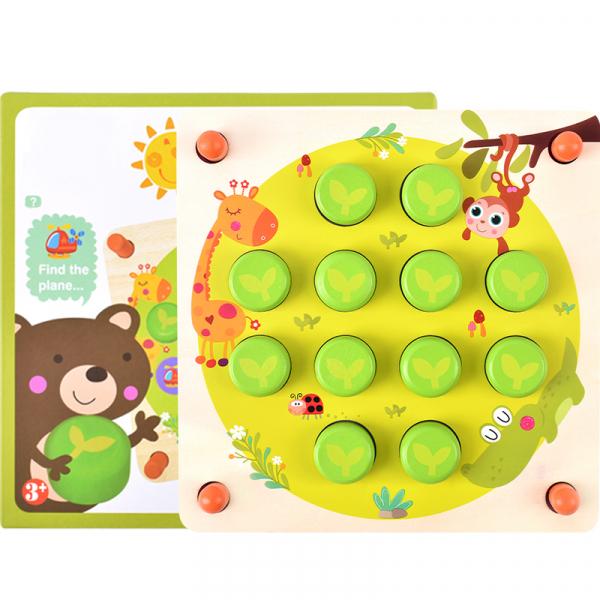 Joc din lemn memorie Animal Chess 6
