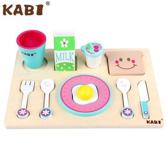 Tavita cu accesorii pentru Micul Dejun din lemn 1