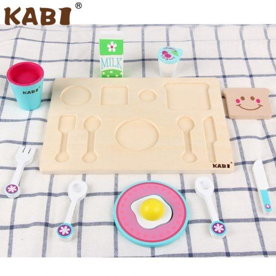 Tavita cu accesorii pentru Micul Dejun din lemn 3
