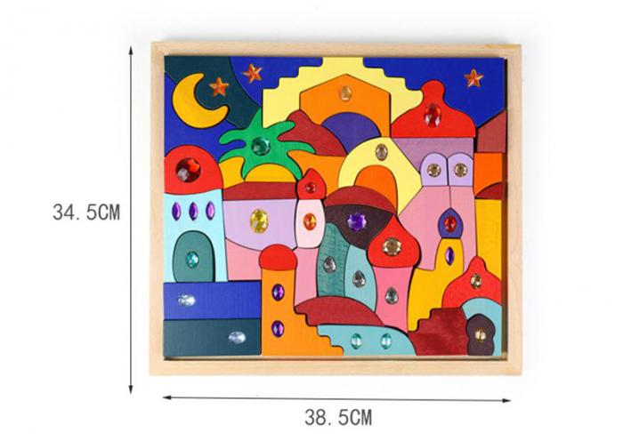 Joc Montessori set constructie Casa Orient 52 de piese 5