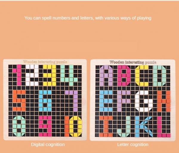 Joc din lemn mozaic din lemn Puzzle mozaic 370 de piese 2