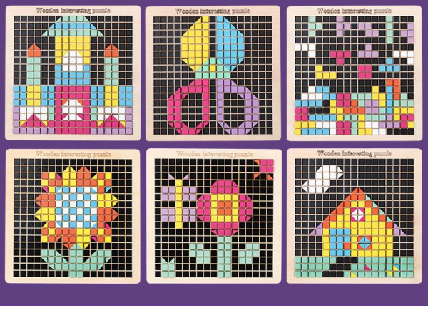 Joc din lemn mozaic din lemn Puzzle mozaic 370 de piese 3