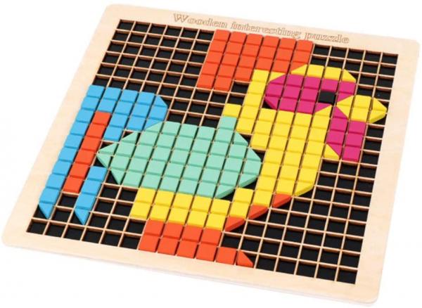 Joc din lemn mozaic din lemn Puzzle mozaic 370 de piese 0