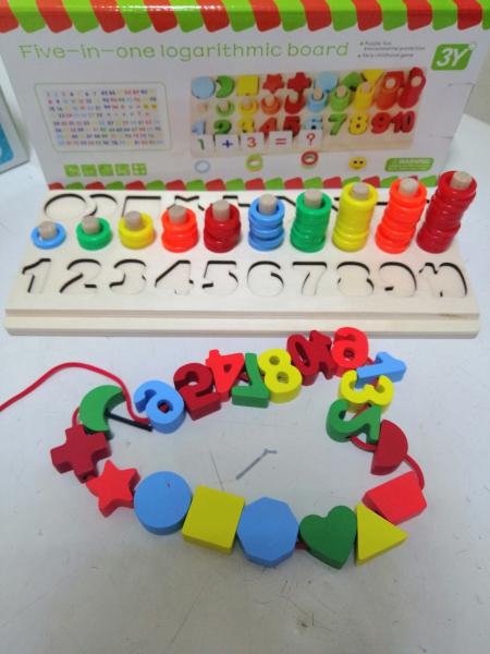Joc  din Lemn numere 5 in 1 - Joc Lemn Operati matematice 1