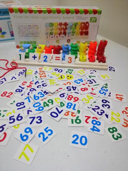 Joc  din Lemn numere 5 in 1 - Joc Lemn Operati matematice 0