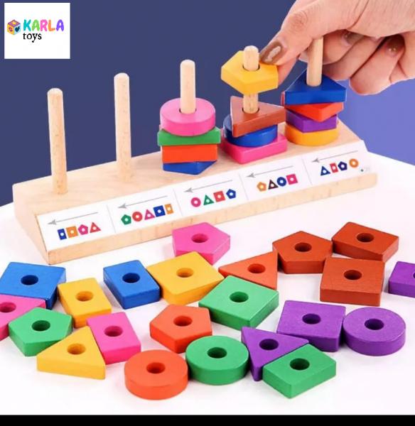 Joc de potrivire si sortare forme geometrice cu carduri 1