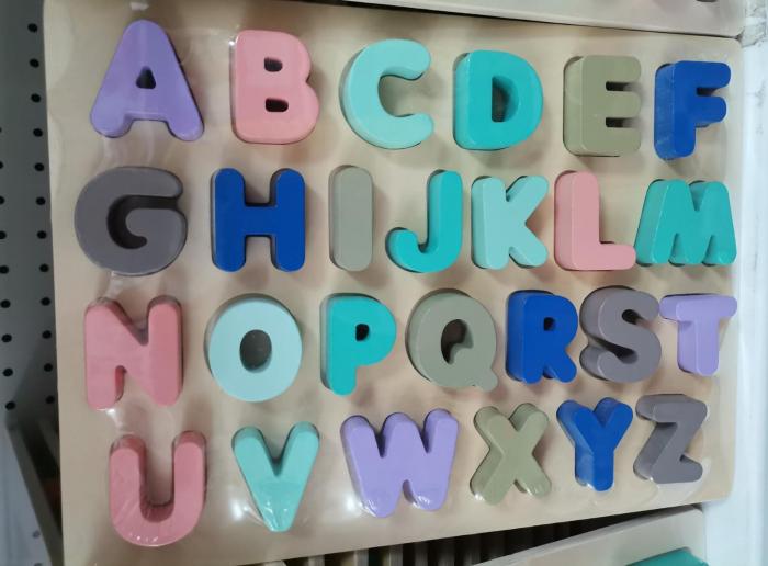 Joc Puzzle din lemn Litere Mari Alfabetul 4