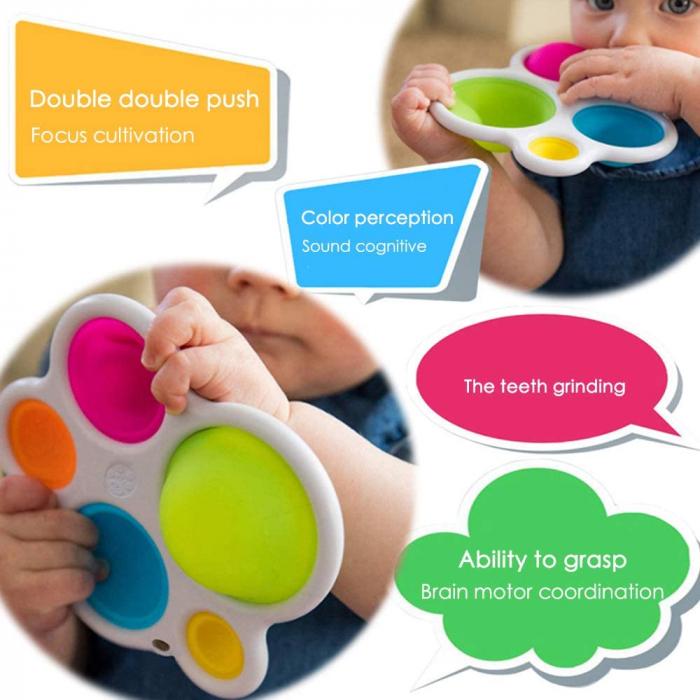 Joc Senzorial Dimple Fidget Placa de exerciti senzoriala copii [4]
