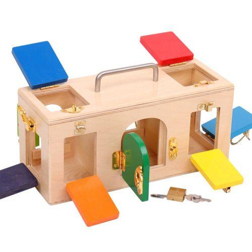 Joc Senzorial din Lemn Montessori Inchizatori [0]