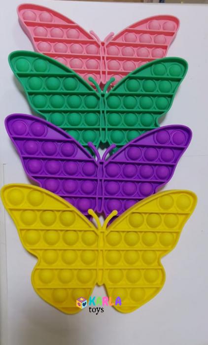 Joc senzorial Pop It - Jucarie Push Pop Bubble fidget Fluture 3