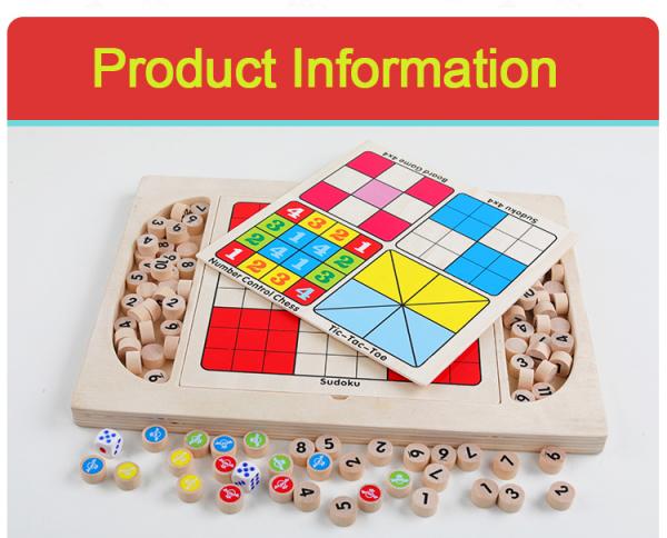 Joc din Lemn Sudoku 4 in 1 - Joc Sudoku Multifuctional din lemn 1
