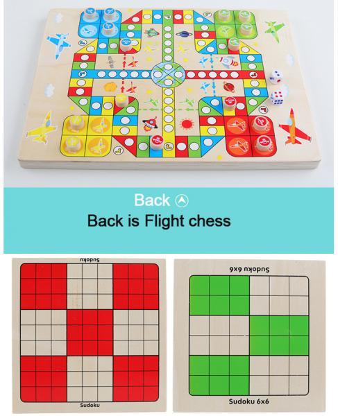 Joc din Lemn Sudoku 4 in 1 - Joc Sudoku Multifuctional din lemn 2