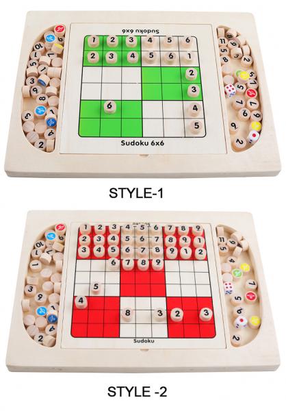 Joc din Lemn Sudoku 4 in 1 - Joc Sudoku Multifuctional din lemn 3