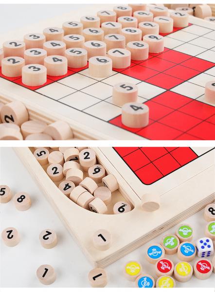 Joc din Lemn Sudoku 4 in 1 - Joc Sudoku Multifuctional din lemn 7