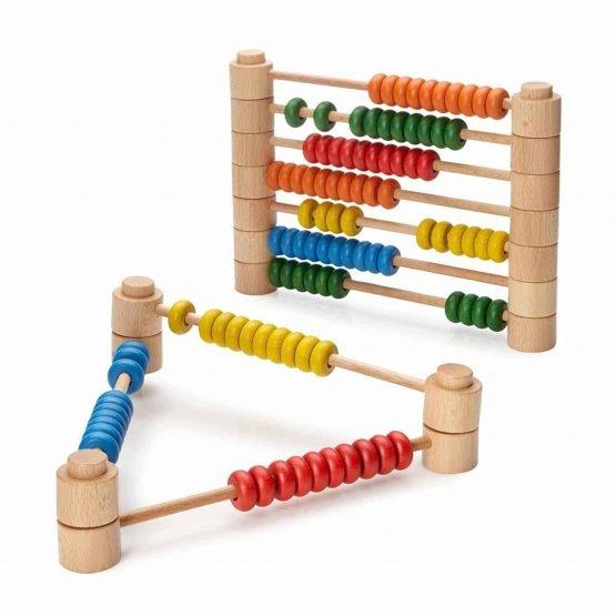 Abac Montessori din lemn multifunctional 2