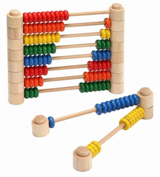 Abac Montessori din lemn multifunctional 3