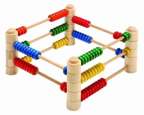 Abac Montessori din lemn multifunctional 4