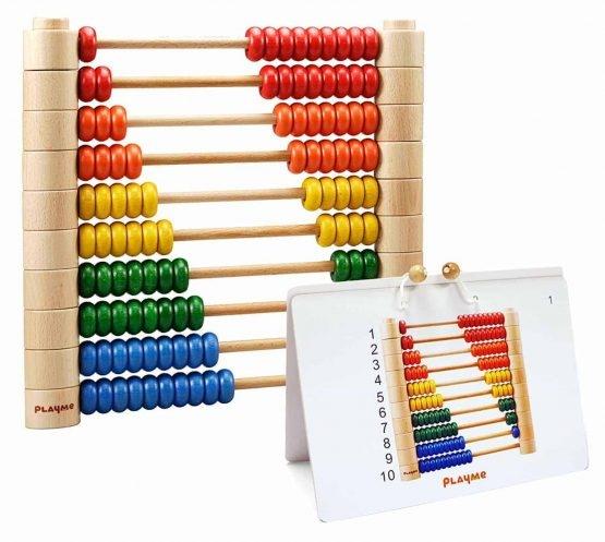 Abac Montessori din lemn multifunctional 7