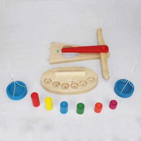 Jucarie de Lemn Montessori Echilibru Blanta cu 6 greutatii 3