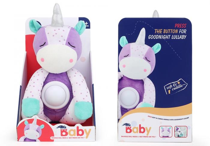 Jucarie de Plus Bebe cu lumin si muzica Baby Snuki Unicorn [0]