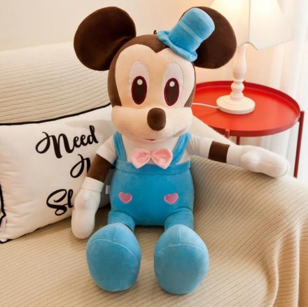Jucarie de plus Mickey - Minnie Mouse cu palarie 7