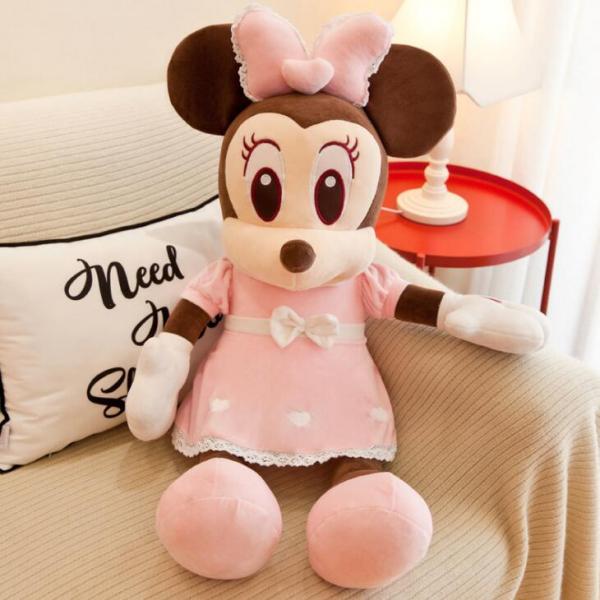 Jucarie de plus Mickey - Minnie Mouse cu palarie 5