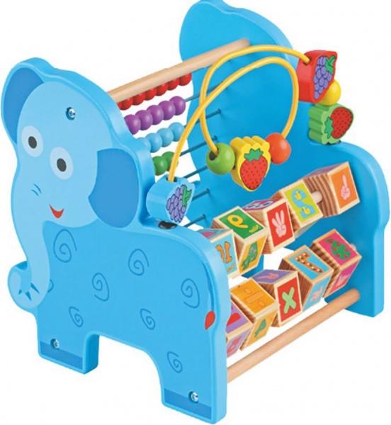Jucarie educativa 3 in 1 ( Abac cu bile)Elefantel - Catel 4