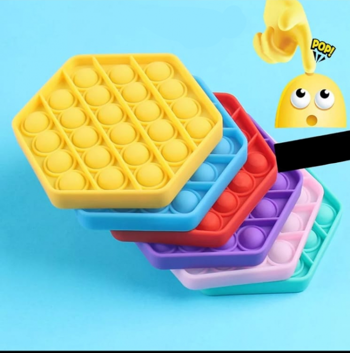 Jucarie interactiva de silicon Pop It Bubble Fidget Octogon [1]