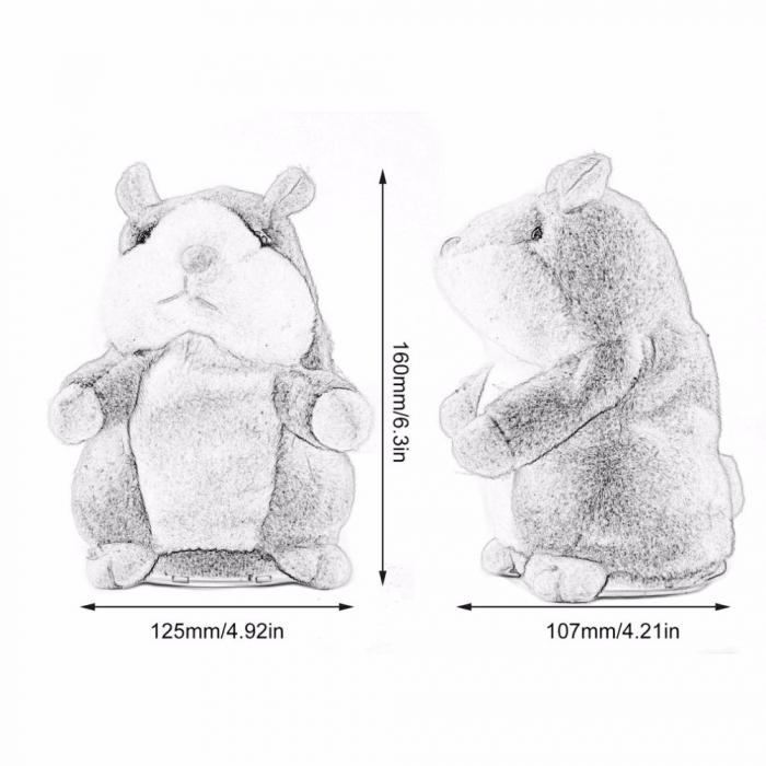 Hamsterul Vorbitor Jucarie interactiva de plus 4
