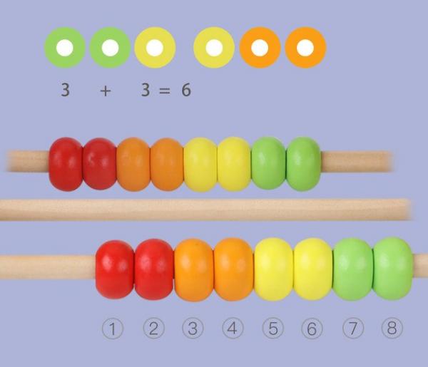 Jucarie Montessori labirint cu bile si abac 6