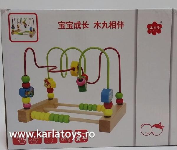 Jucarie  Montessori labirint cu bile si abac 3