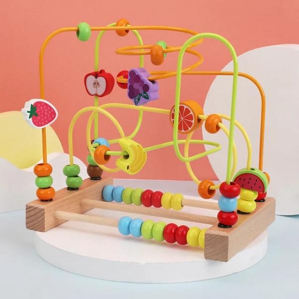 Jucarie Montessori labirint cu bile si abac 0