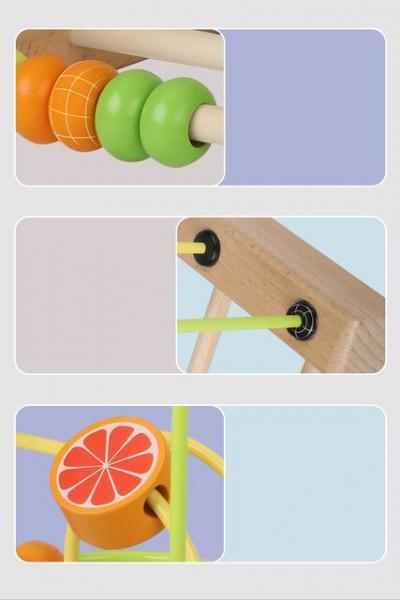 Jucarie Montessori labirint cu bile si abac 5