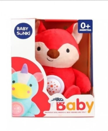 Jucarie plus bebelus cu muzica si proiector Animale Baby Snuki 0
