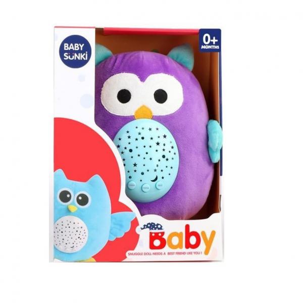 Jucarie plus bebelus cu muzica si proiector Animale Baby Snuki 2