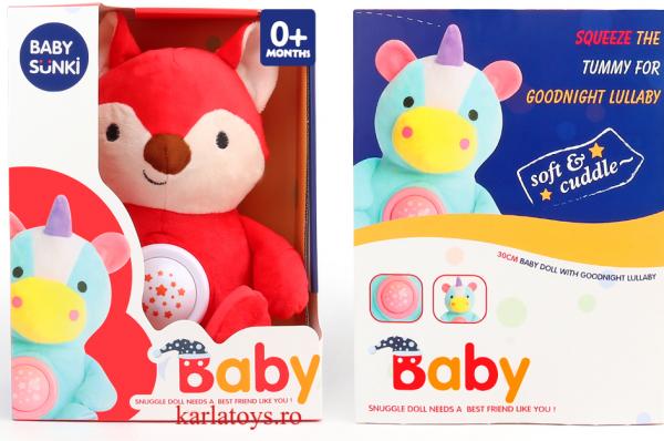 Jucarie plus bebelus cu muzica si proiector Animale Baby Snuki 3