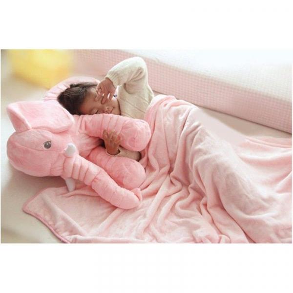 Jucarie plus si pernuta bebe elefant cu paturica 4
