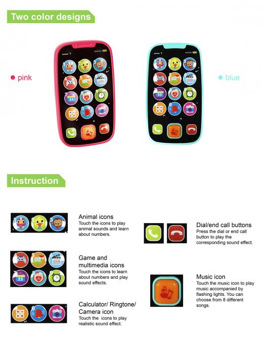 Jucarie Primul Meu Telefon Smart cu muzica si lumin Hola [4]
