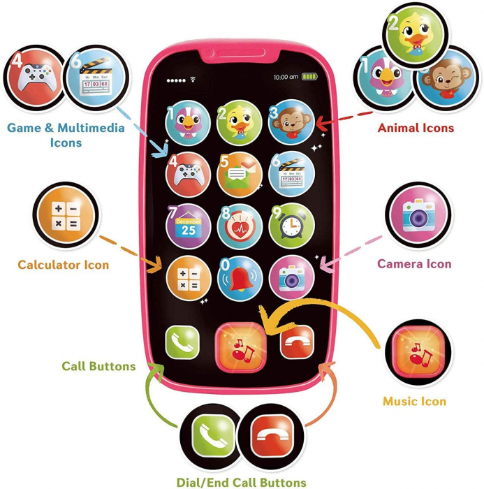 Jucarie Primul Meu Telefon Smart cu muzica si lumin Hola [1]