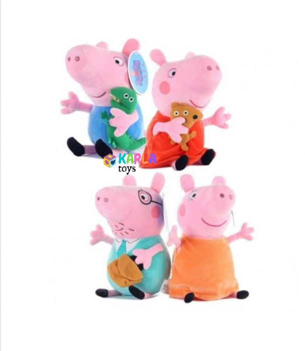 Set 4 jucarii de plus Purcelusa Peppa Pig [4]