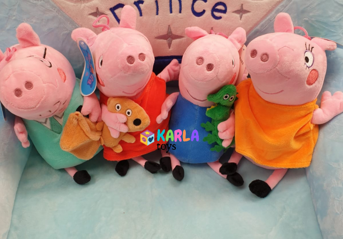 Set 4 jucarii de plus Purcelusa Peppa Pig [6]