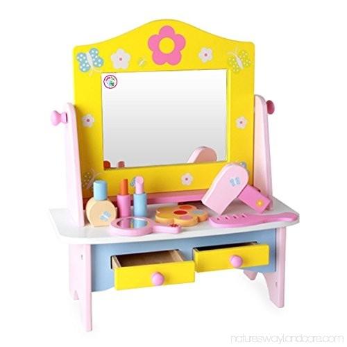 Masuta de toaleta din lemncu accesorii Dresser 4