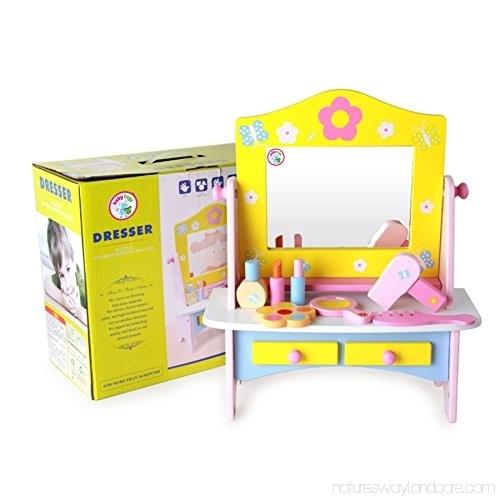 Masuta de toaleta din lemncu accesorii Dresser 0