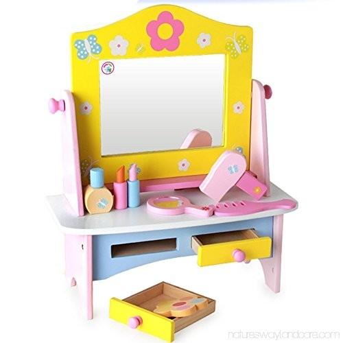 Masuta de toaleta din lemncu accesorii Dresser 5