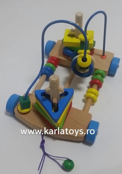 Jucarie de lemn de tras labirint si forme geometrice [0]