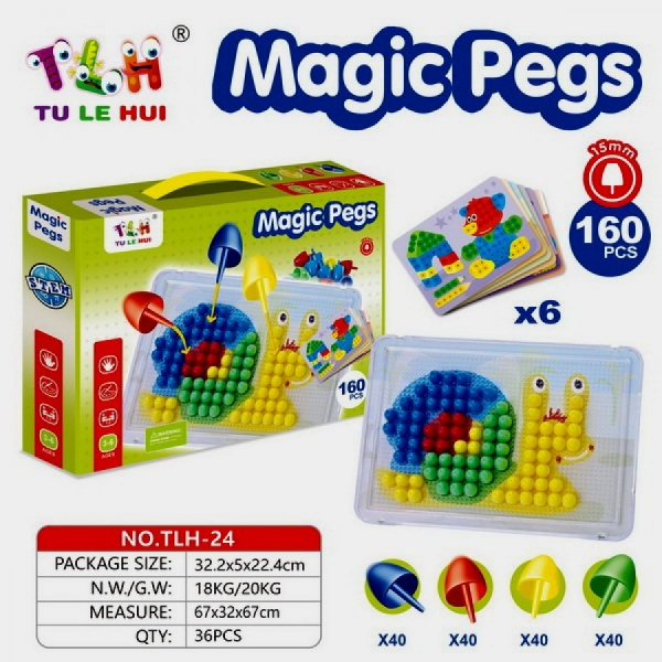 Set Mozaic Magic Pegs 160 piese 1