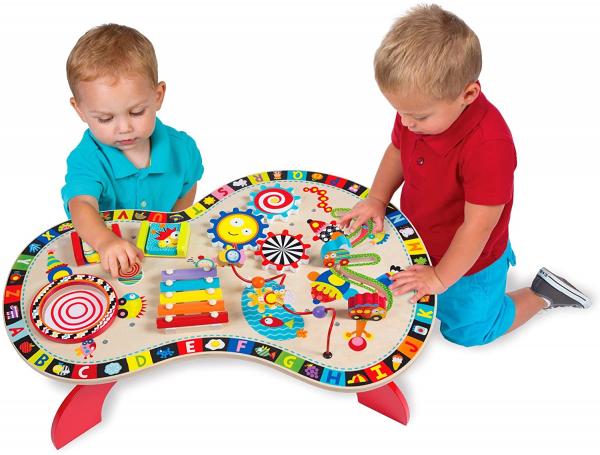 Masuta din Lemn cu Activitatii - Masa lemn copii Multifunctionala Alex Jr 1