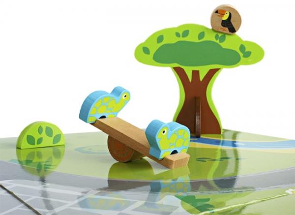 Masa de joaca din lemn Gradina zoologica 5