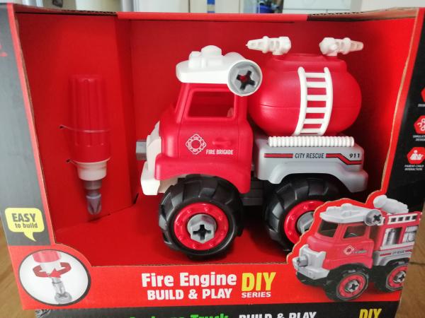 Masinuta de asamblat Masina de gunoi - Masina de pompieri 5