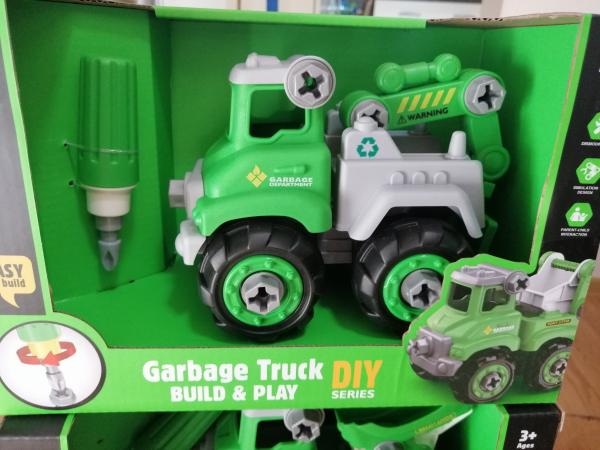 Masinuta de asamblat Masina de gunoi - Masina de pompieri 2